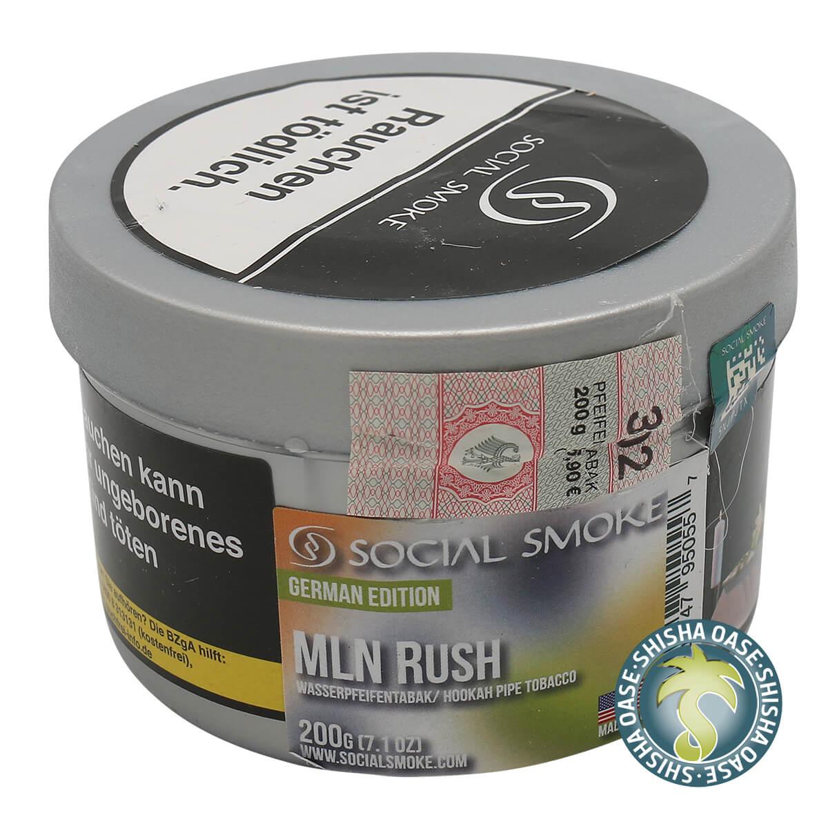 Social Smoke Tabak Mln Rush 200g Dose