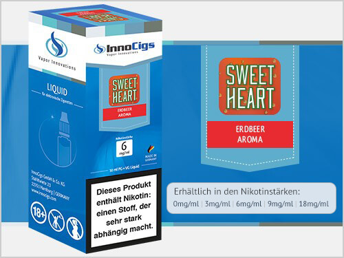 Innocigs Liquid - Sweetheart Erdbeer Aroma - 0 mg/ml