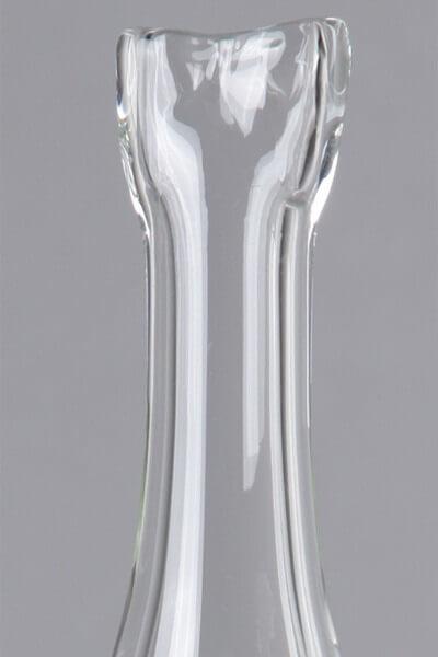 Crystal Stripe Glasmundstück Fish - Schwarz