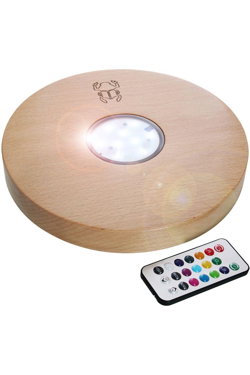 LED Untersetzer 22cm aus Holz
