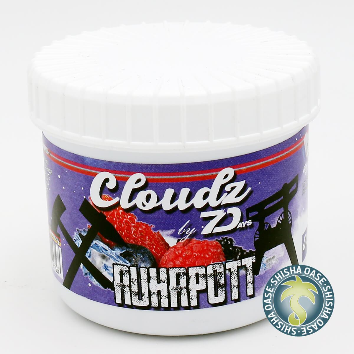 Cloudz by 7 Days Dampfsteine 50g | Ruhrpott