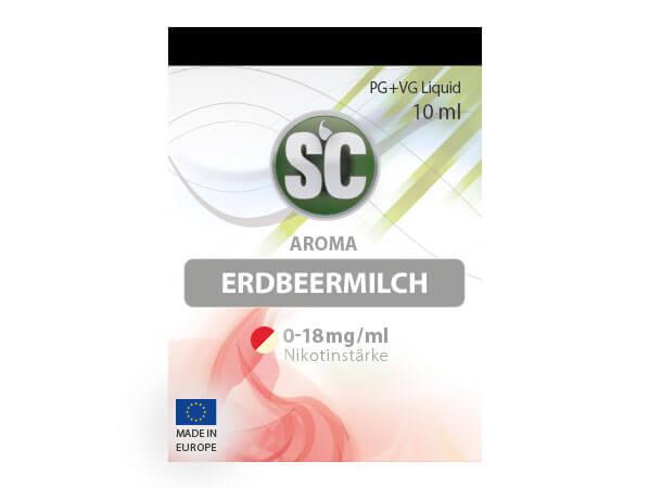 Erdbeermilch Liquid (10ml) 6 mg/ml