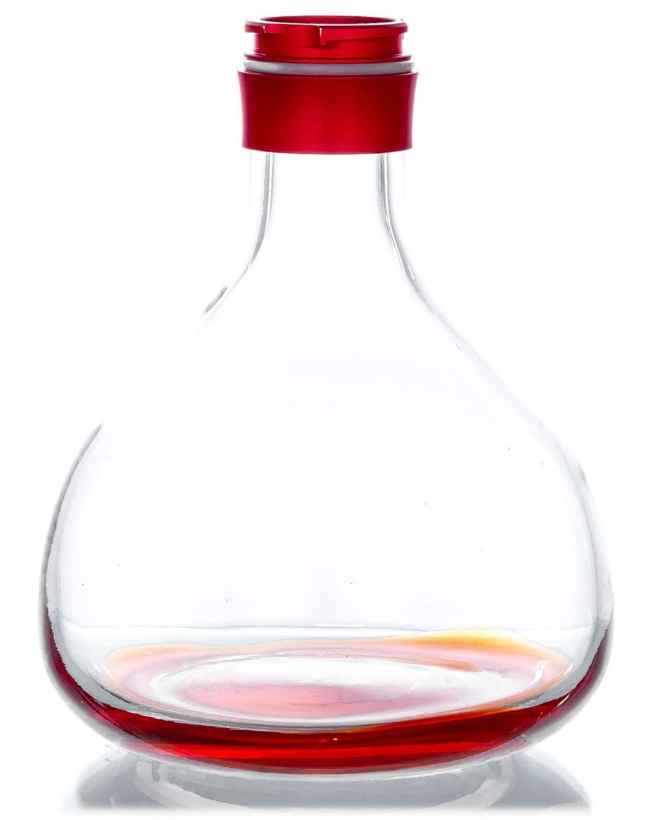 Aladin Shisha Ersatzglas Alux 1 (Rot)