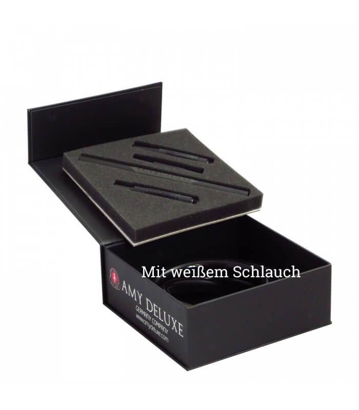 Amy Deluxe Schlauchset mit Mundstück S238 in Box - Weiß