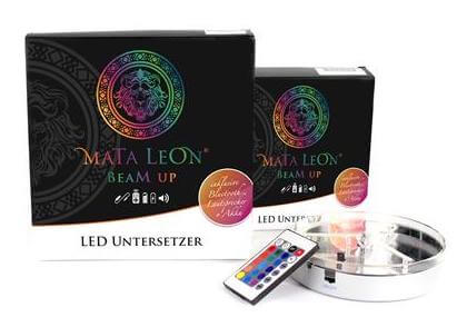 Mata Leon LED Untersetzer mit Lautsprecher 15cm