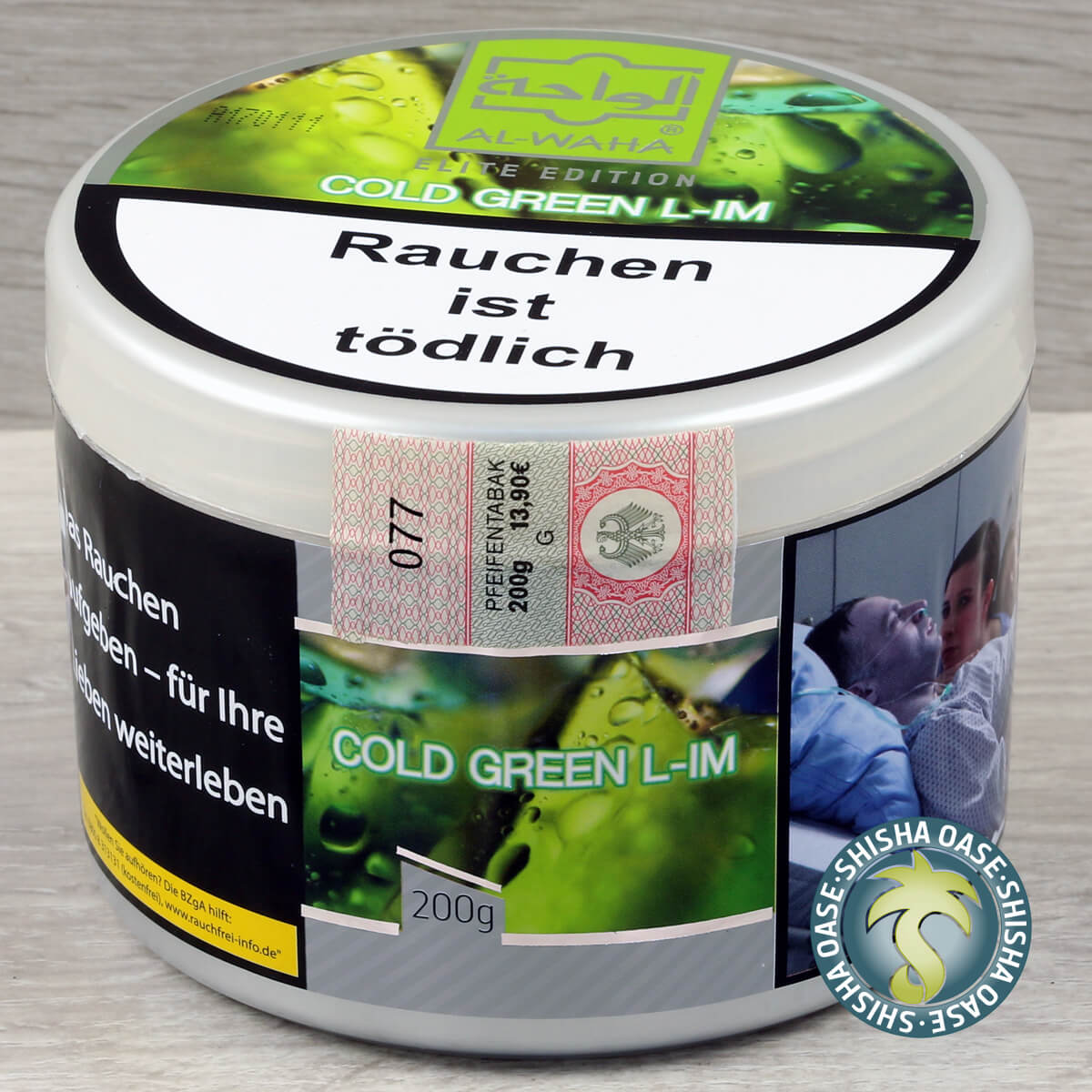 Al Waha Cold Green L-IM 200g Dose - rauchfertig