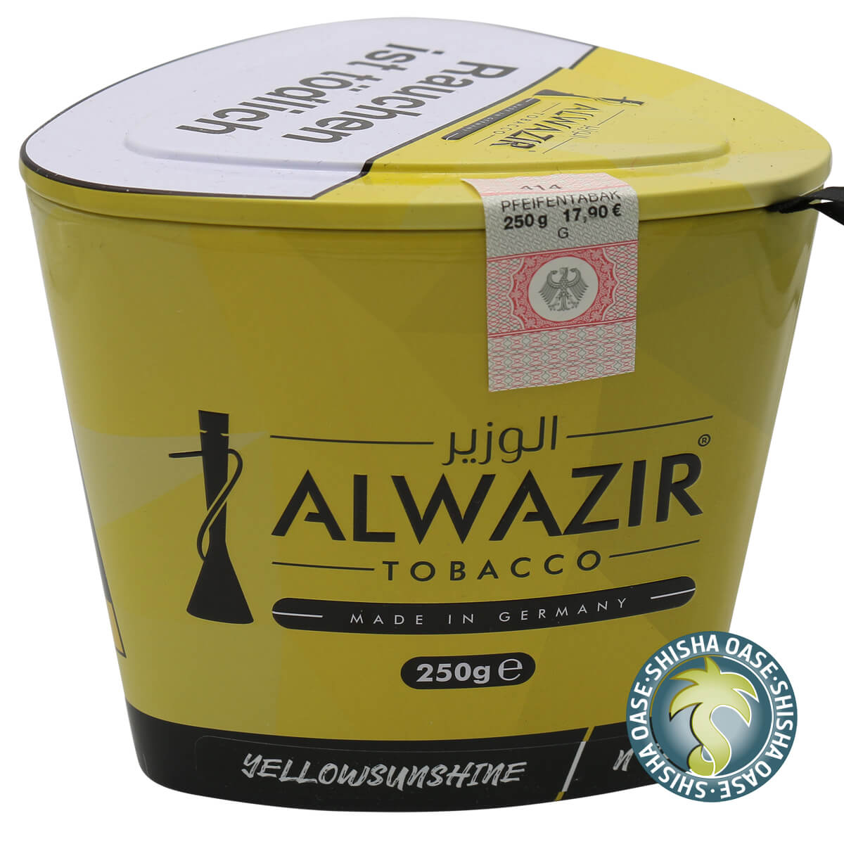 Al Wazir Tabak 250g Dose | Yellow Sunshine No.32