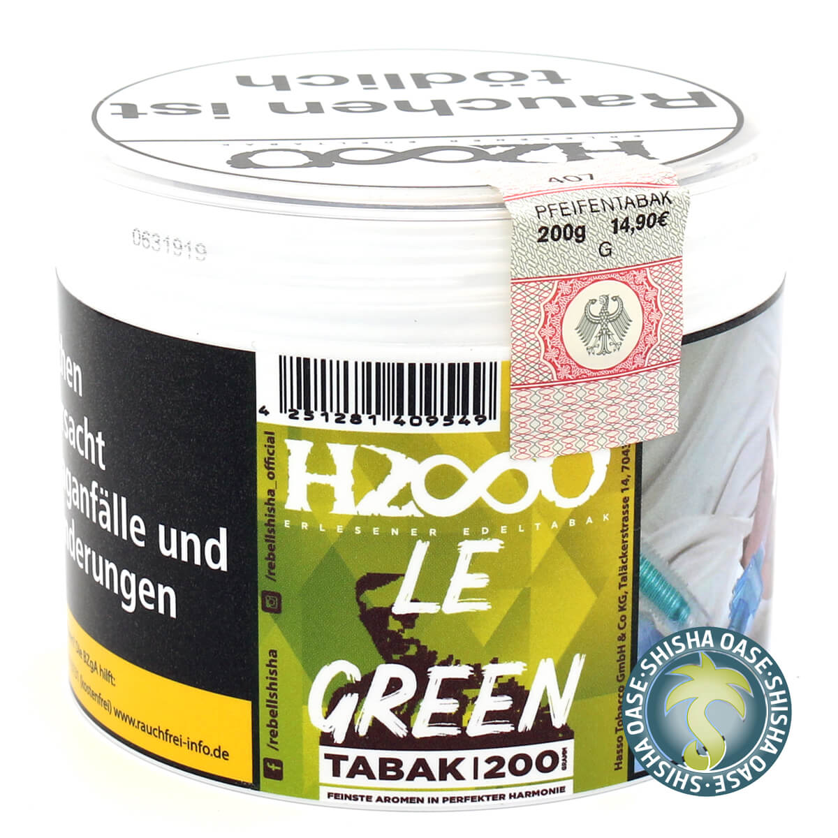 Hasso Tabak - Classic Line 200g - Le Green