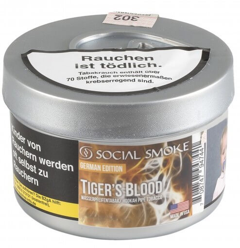 Social Smoke Tabak Tigers Blood 250g Dose