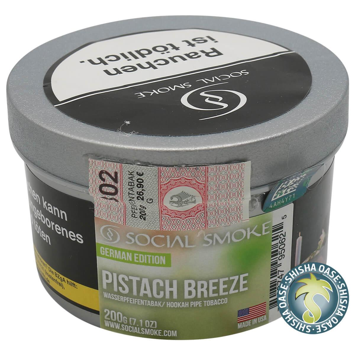 Social Smoke Tabak Pistach Breeze 200g Dose