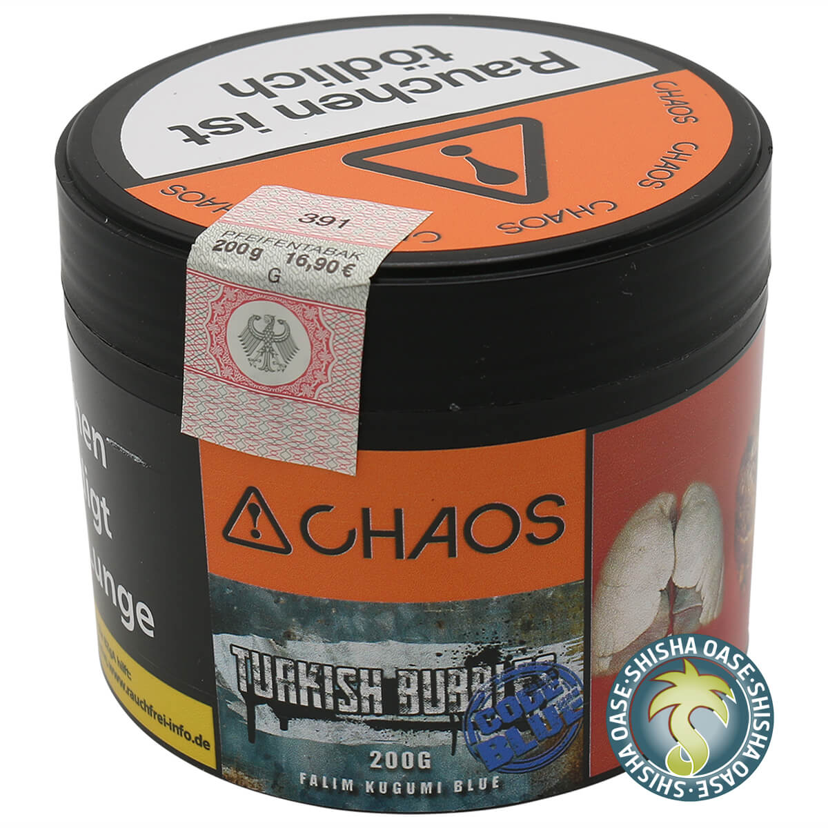 Chaos Tabak Turkish Bubbles Code Blue 200g