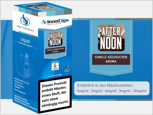 Innocigs Liquid - Afternoon Vanille-Käsekuchen Aroma - 0 m