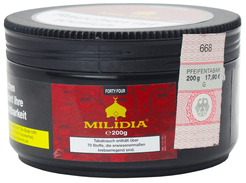 Milidia Tabak Forty Four 200g