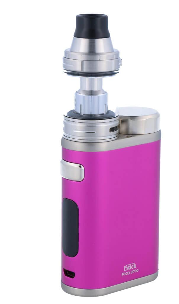 SC iStick Pico 21700 mit Ello E-Zigaretten Set pink