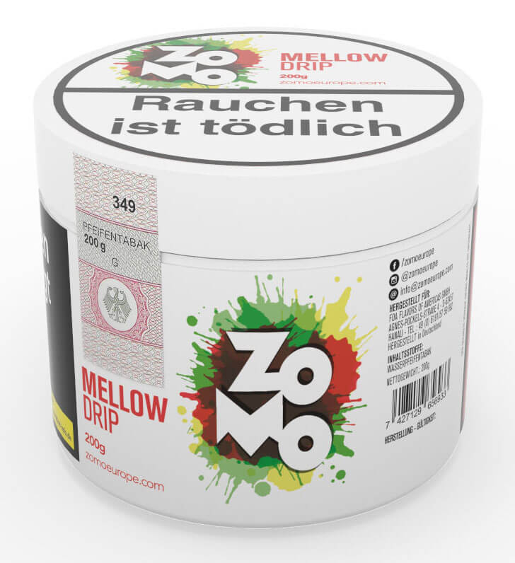 Zomo Tabak Mellow Drip 200g