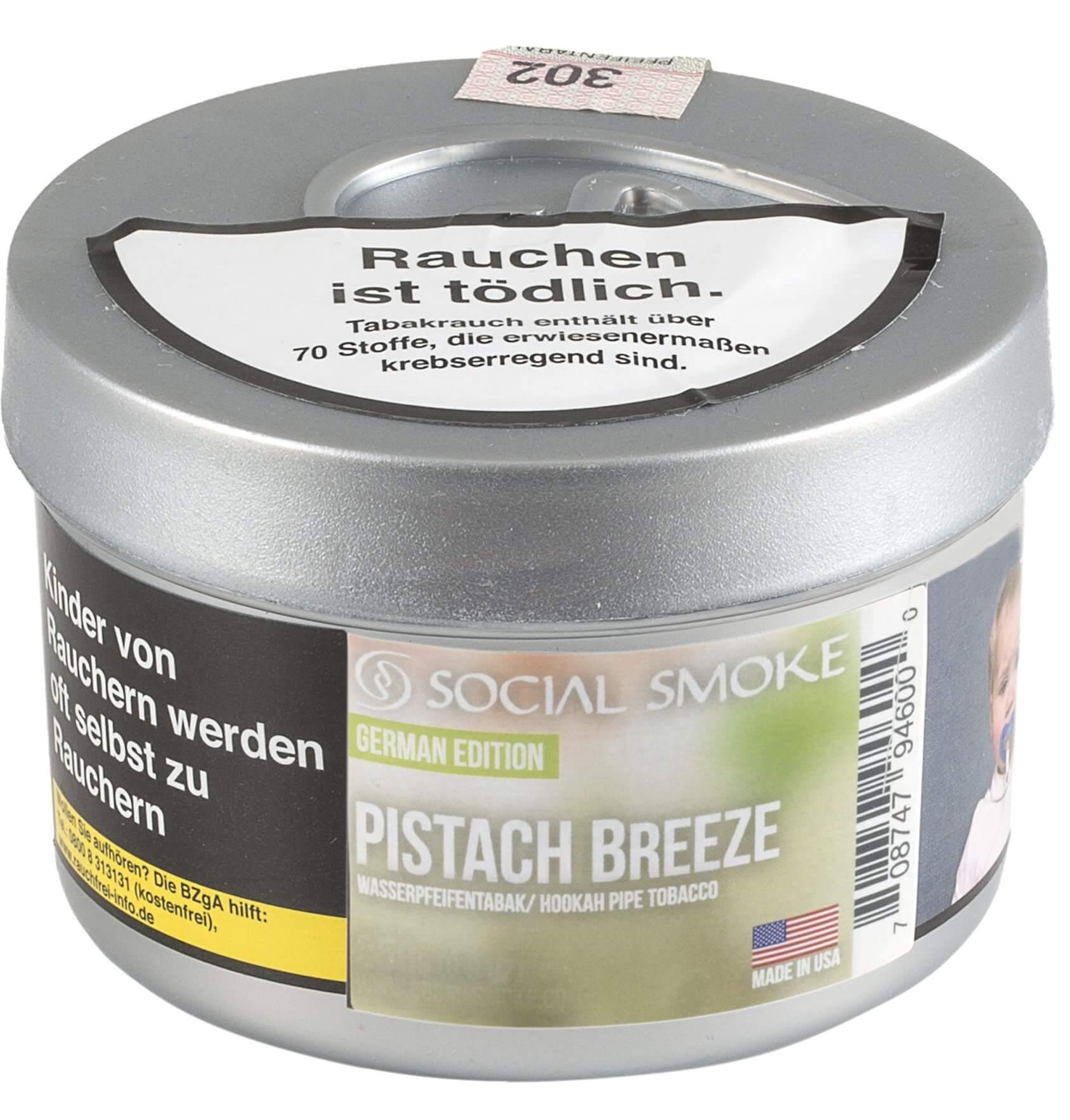 Social Smoke Tabak Pistach Breeze 250g Dose