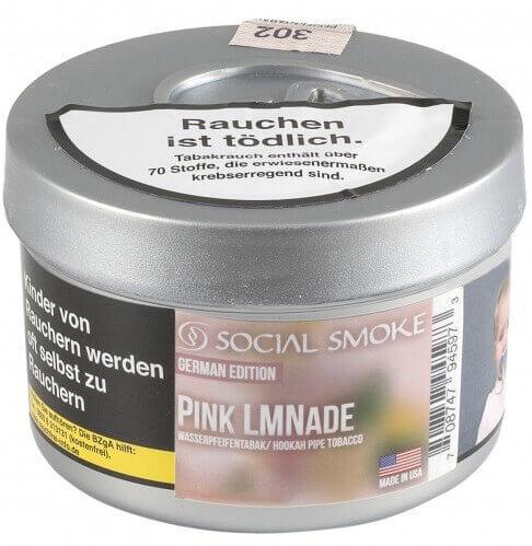 Social Smoke Tabak PINK LMNADE 100g Dose