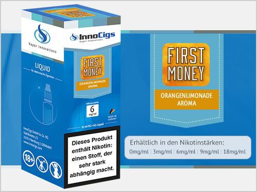 Innocigs Liquid - First Money Orangenlimonade Aroma - 3 mg