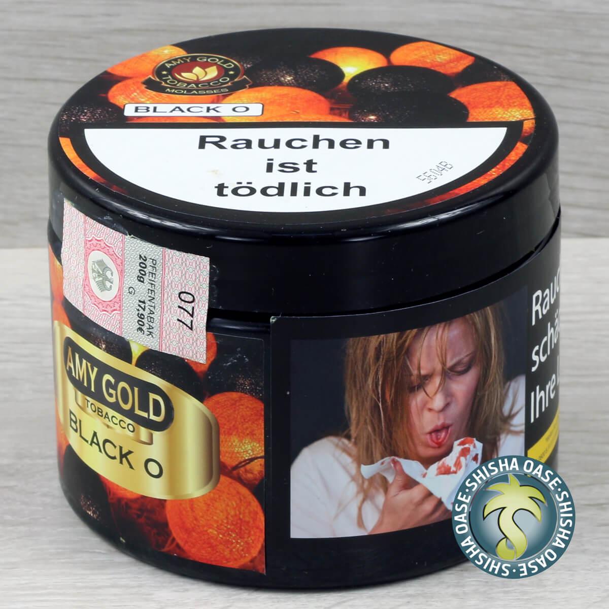 Amy Gold Tobacco Black O 200g Dose