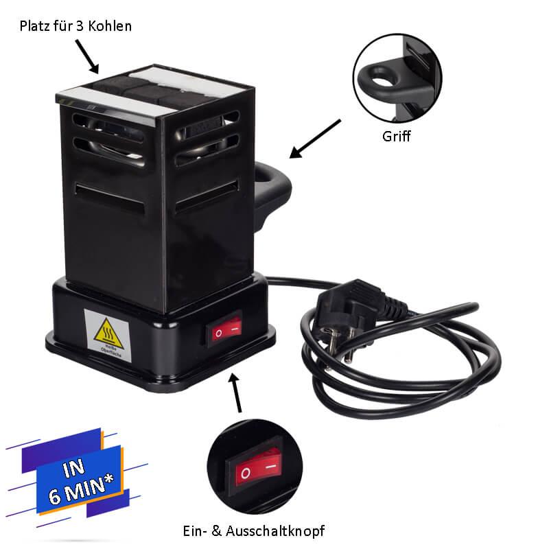 Prime Fire Toaster Kohleanzünder | elektrisch