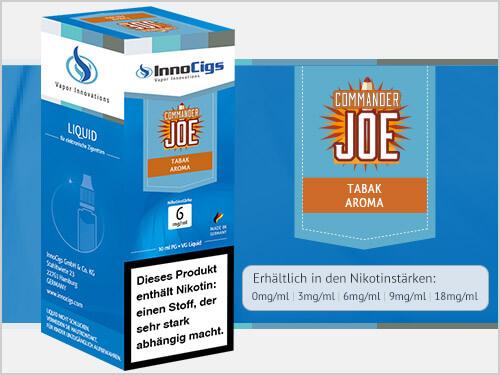 Innocigs Liquid - Commander Joe Tabak Aroma - 0 mg/ml