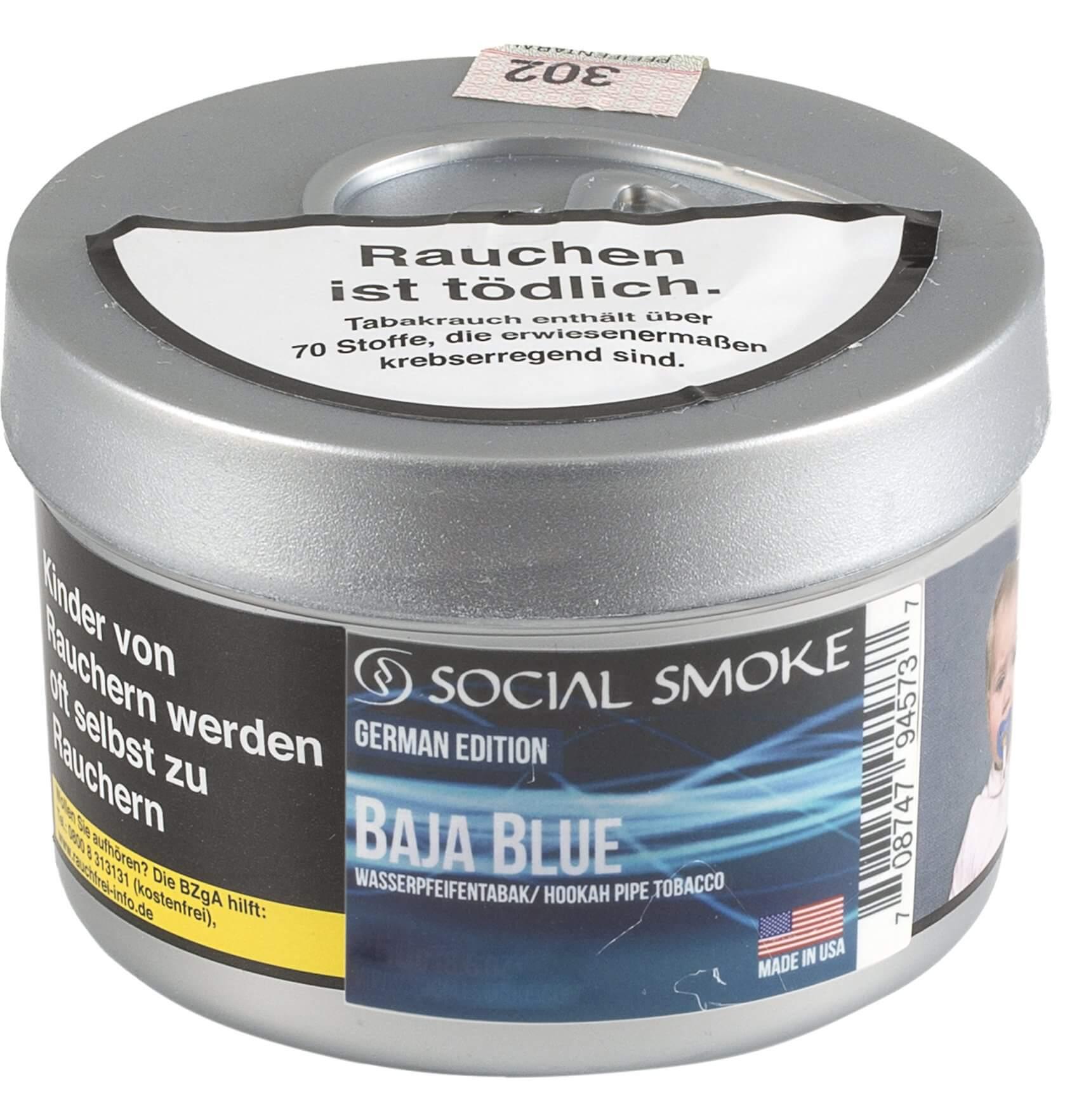 Social Smoke Tabak Baja Blue 100g Dose