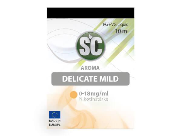 Delicate Mild Tabak Liquid (10ml) 0 mg/ml