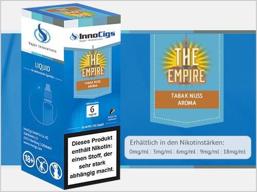 Innocigs Liquid - The Empire Tabak Nuss Aroma - 0 mg/ml