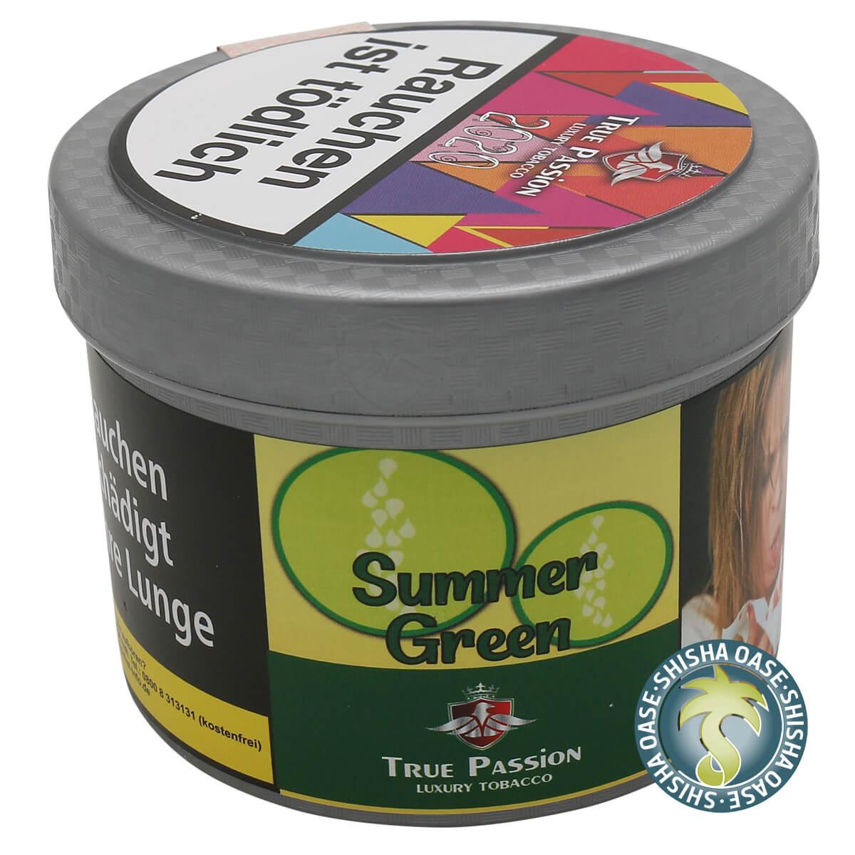 True Passion Tabak 200g Dose | Summer Green