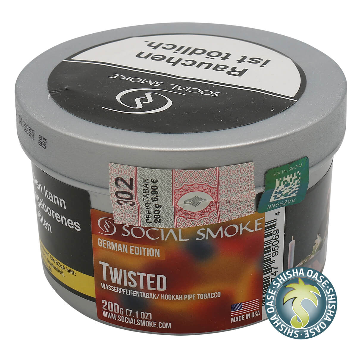 Social Smoke Tabak Twisted 200g Dose