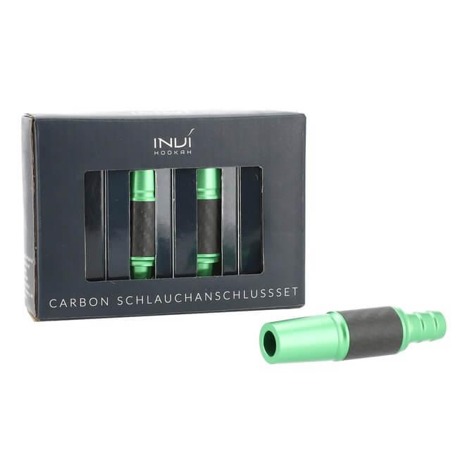 INVI Schlauchanschluss Set Alu-Carbon 18/8er | Grün