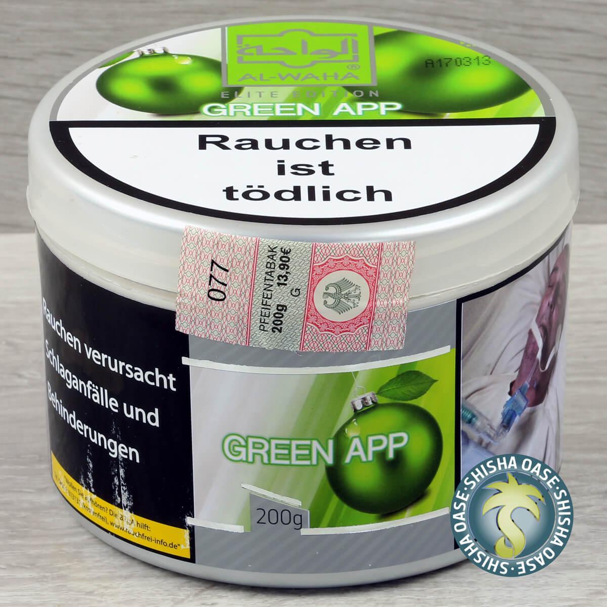 Al Waha Green App 200g Dose - rauchfertig
