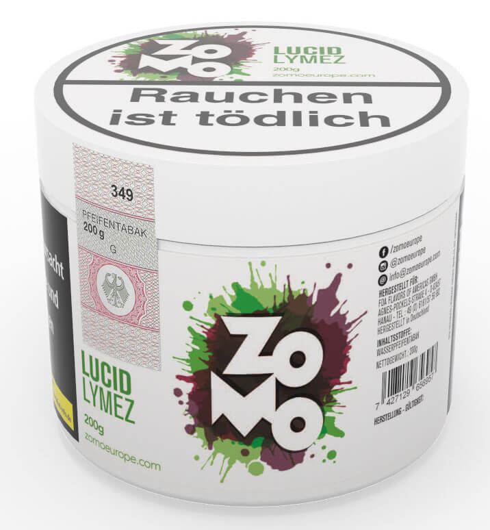 Zomo Tabak Lucid Lymez 200g