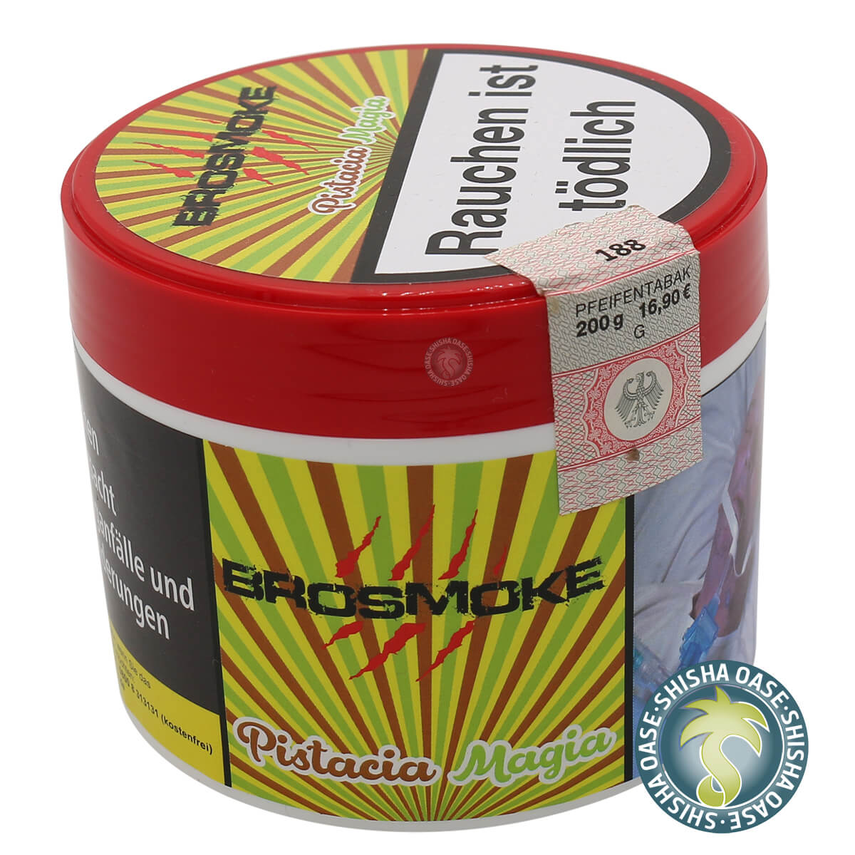 Brosmoke Tabak 200g Dose | Pistacia Magia