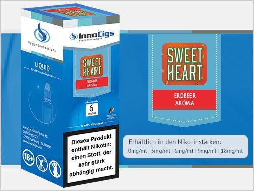 Innocigs Liquid - Sweetheart Erdbeer Aroma - 6 mg/ml