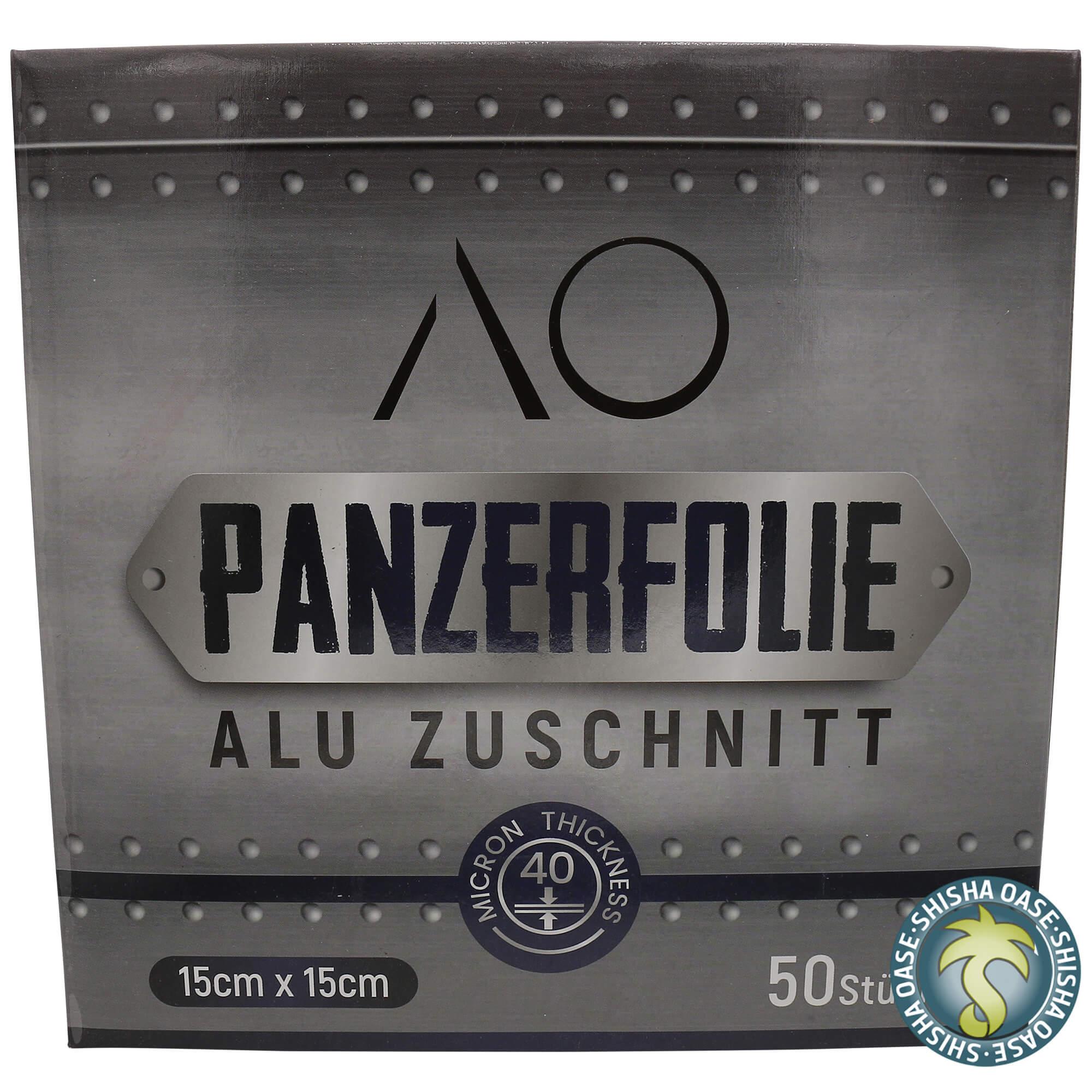 AO Panzerfolie Alu Zuschnitt 15 x 15cm (50Stück)