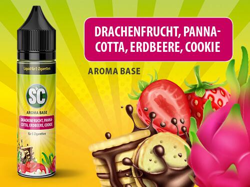 SC Vape Base - Drachenfrucht, Pannacotta, Erdbeere, Cookie 50ml