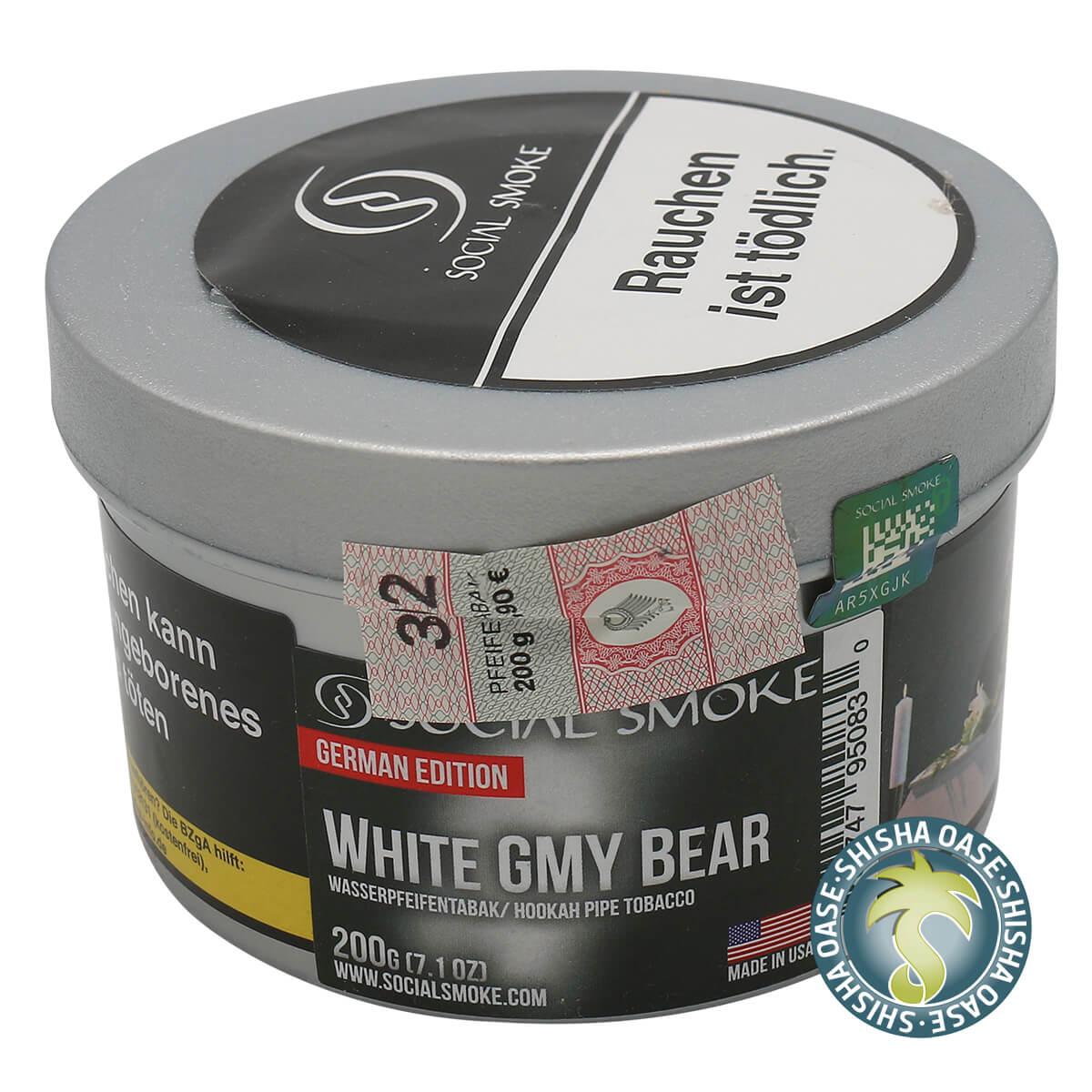 Social Smoke Tabak White Gmy Bear 200g Dose