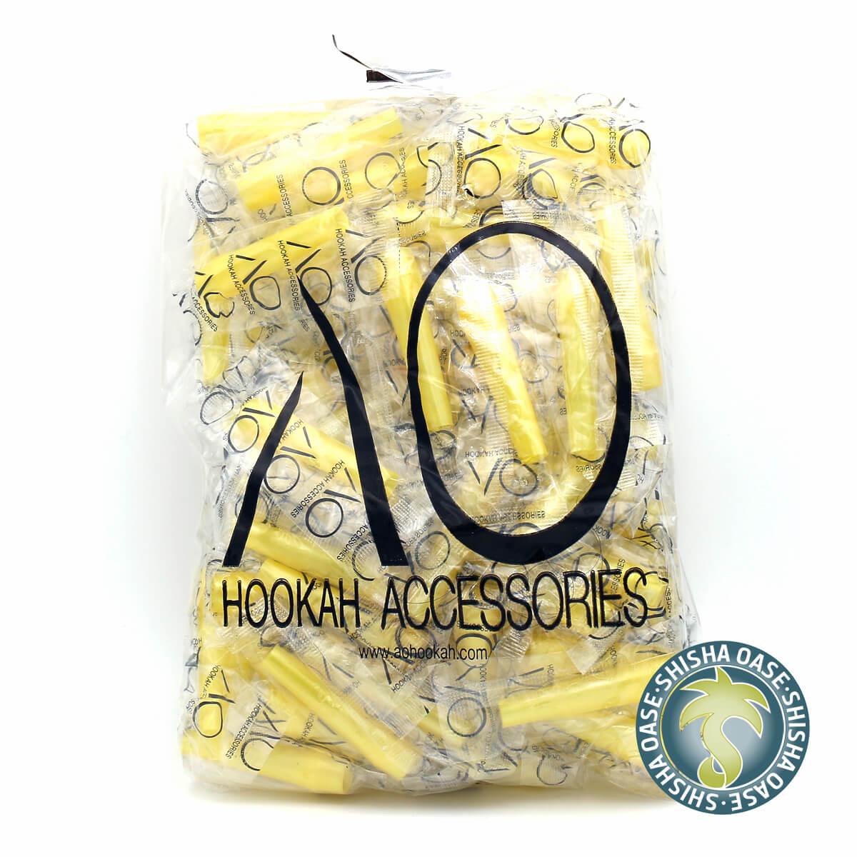 Hygienemundstücke | innen steckbar | 100 Stück | Gelb