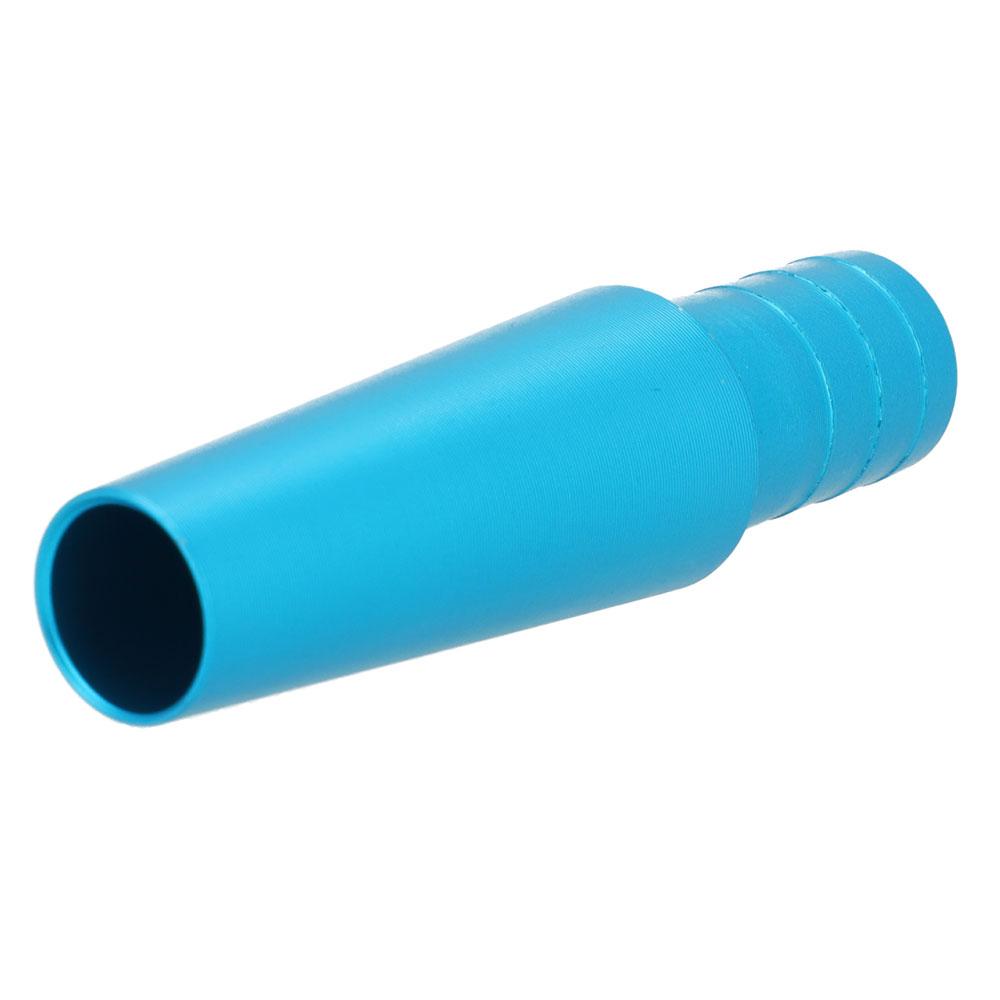 Schlauchanschluss Lang (Rillen - Hellblau)