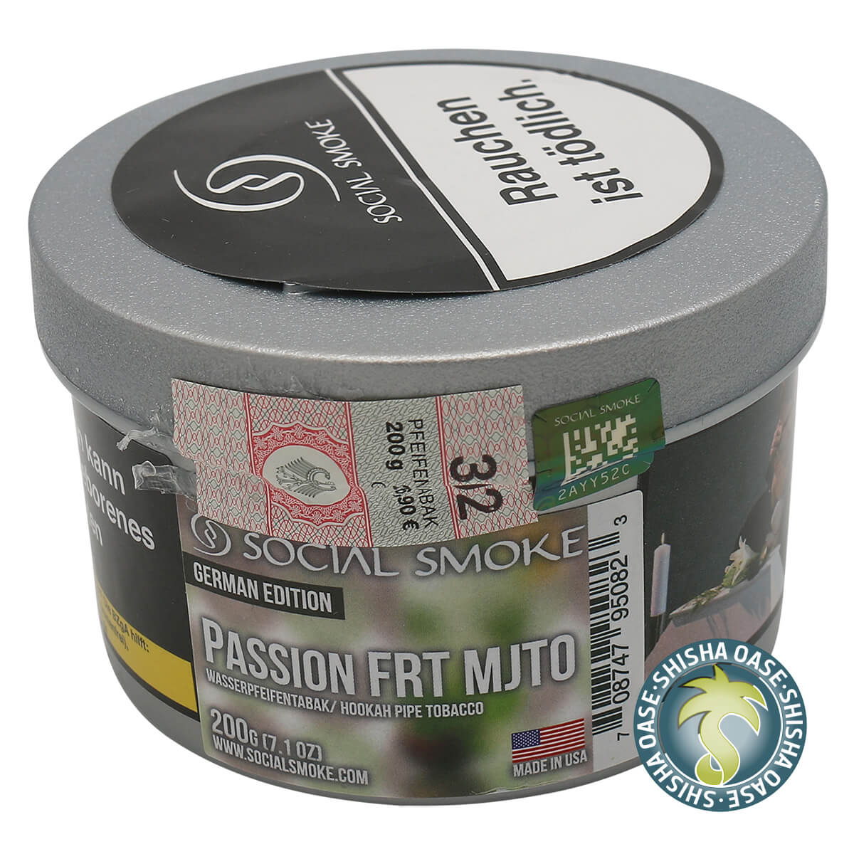 Social Smoke Tabak Passion Frt Mjto 200g Dose