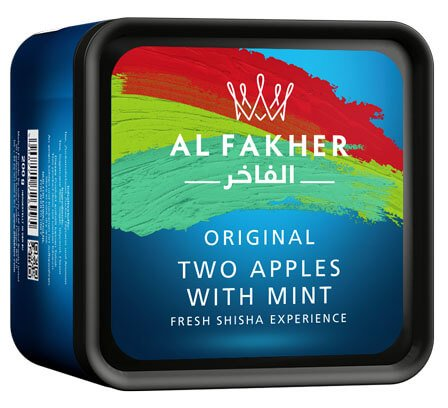 Al Fakher 200g Tabakersatz | Two Apples with Mint