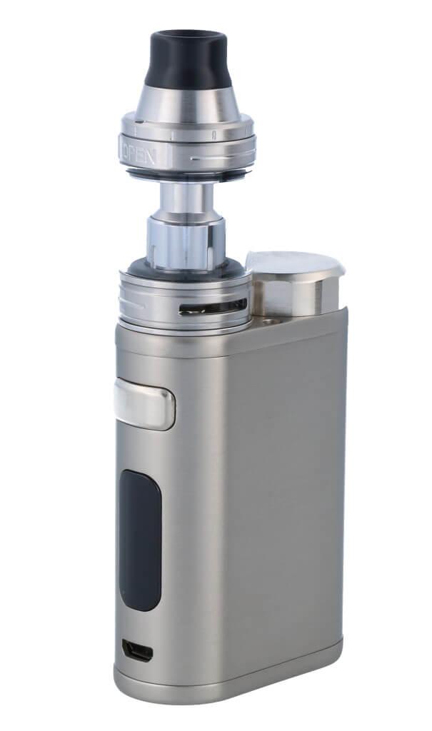 SC iStick Pico 21700 mit Ello E-Zigaretten Set gebürstetes silbe