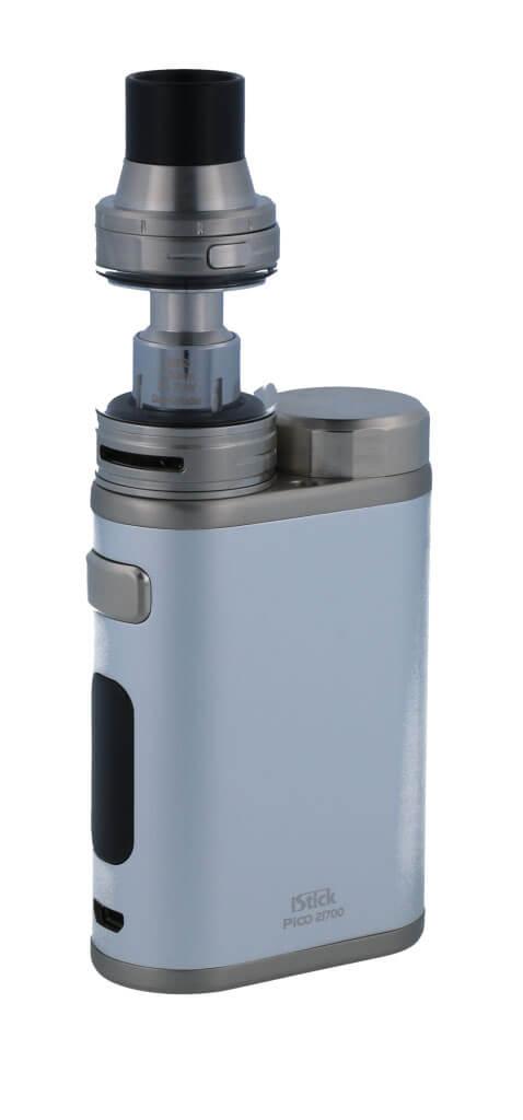 SC iStick Pico 21700 mit Ello E-Zigaretten Set silber