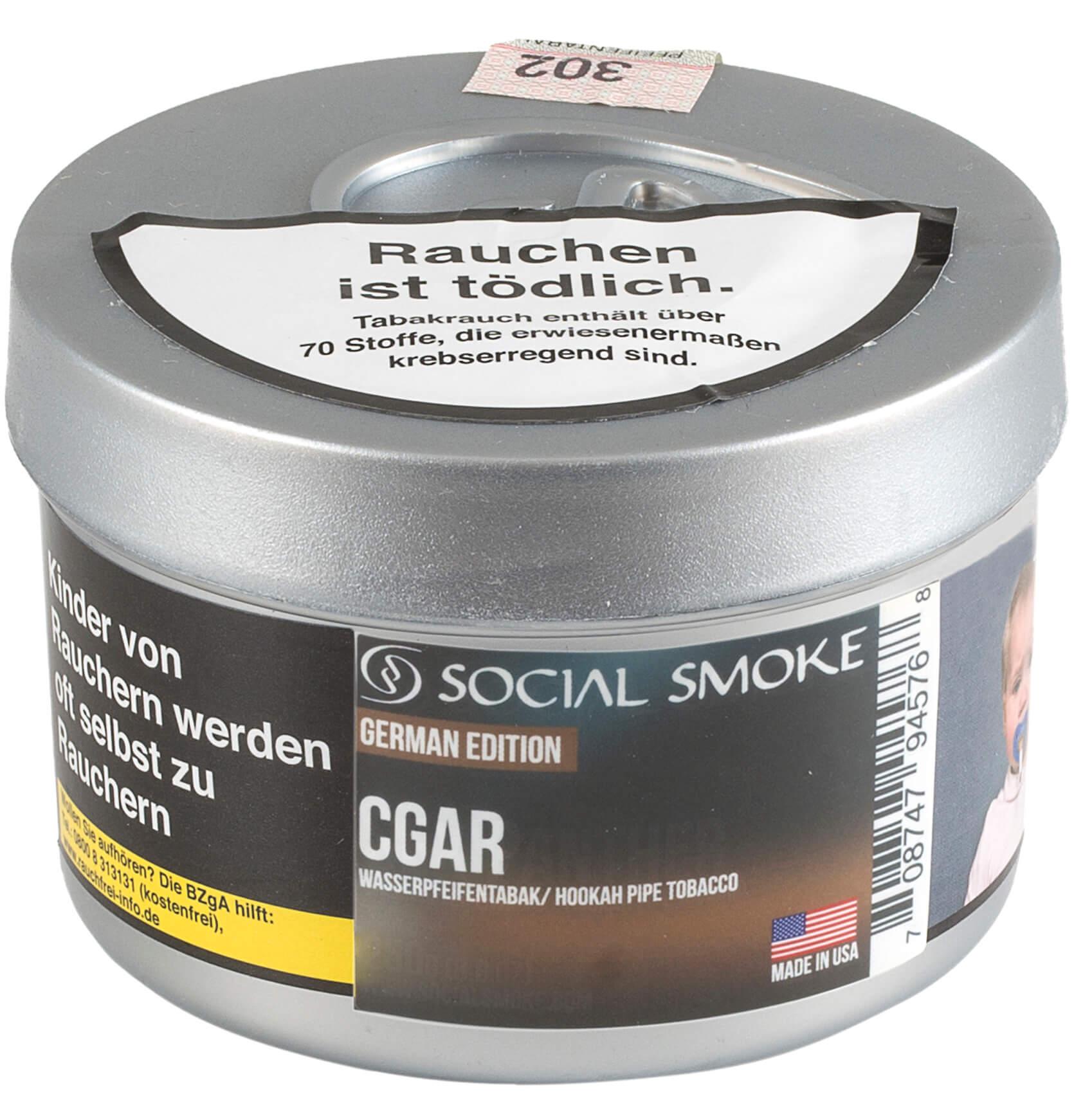 Social Smoke Tabak Cgar 250g Dose
