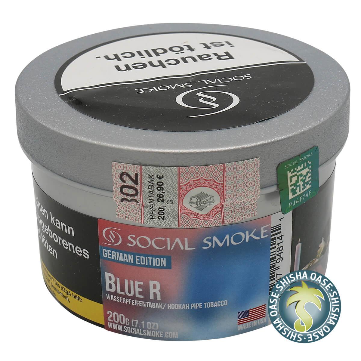 Social Smoke Tabak Blue R 200g Dose