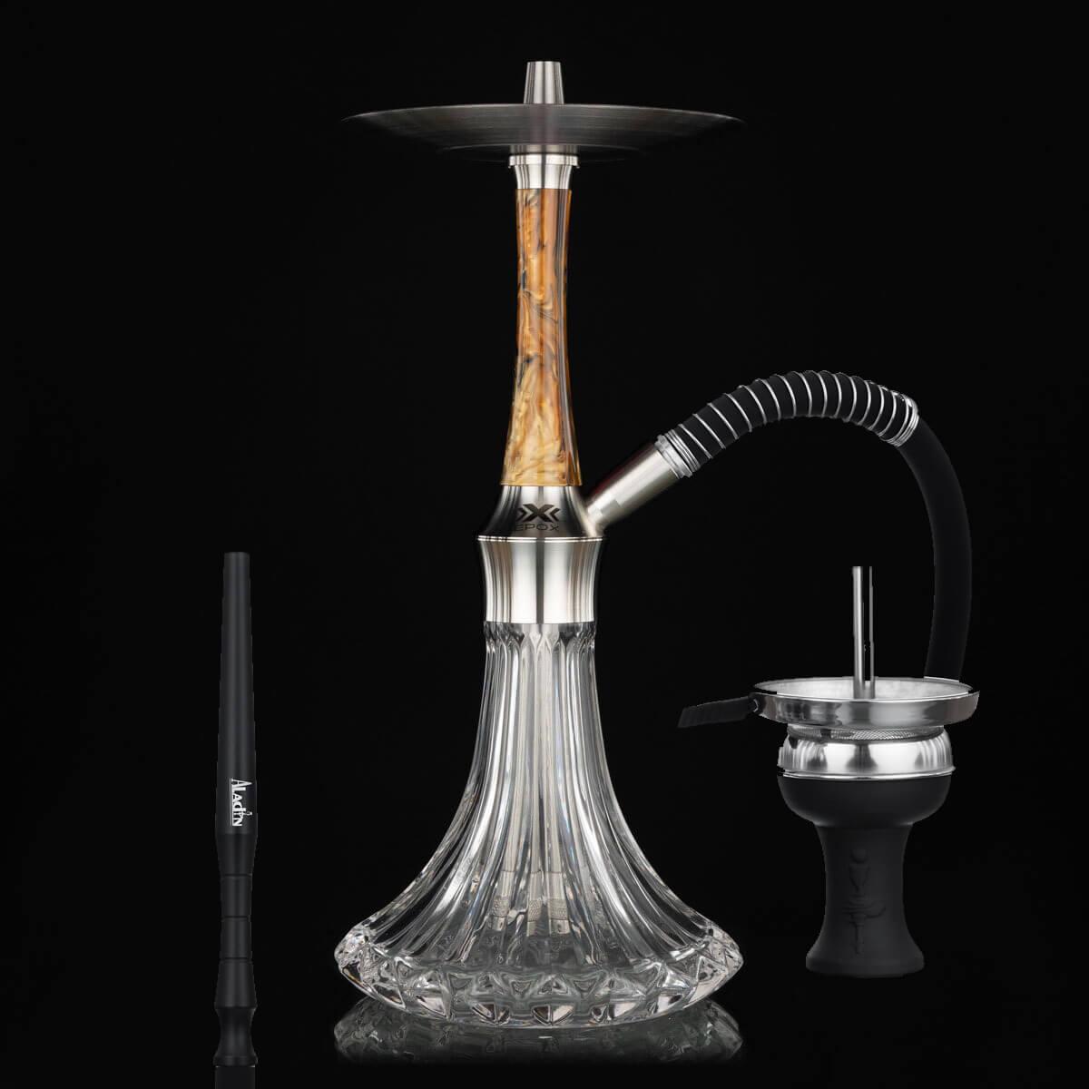 Aladin Shisha EPOX 360 (Holz Braun Schwarz)