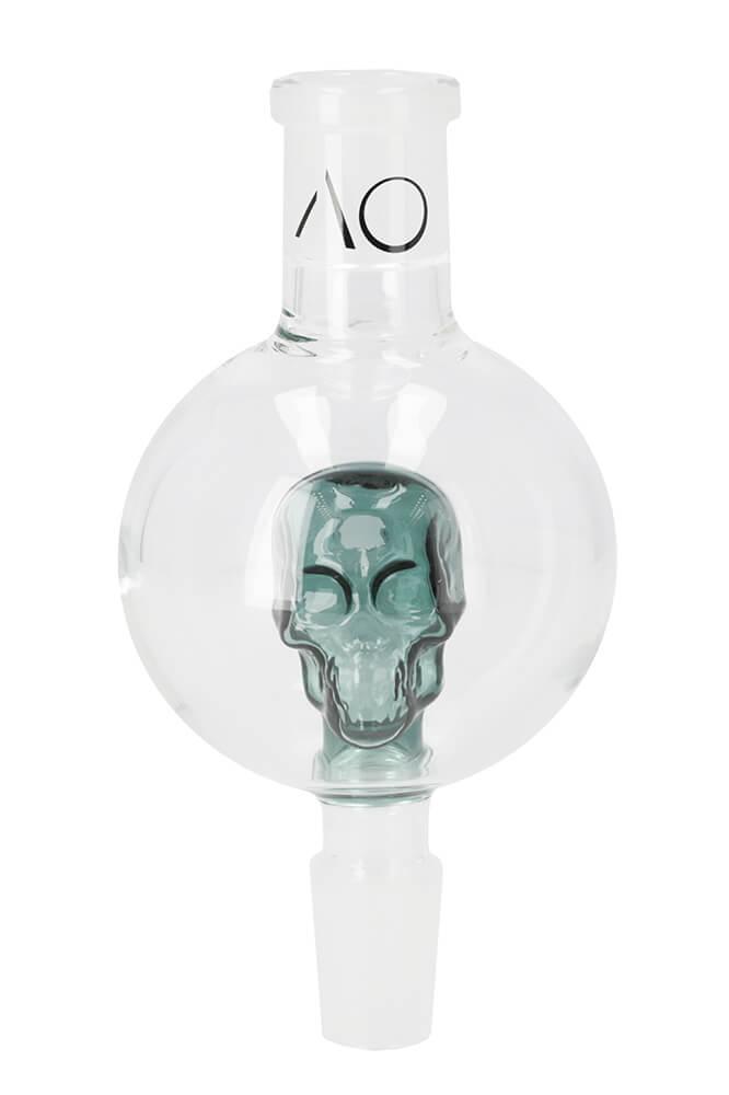 Molassefänger Skull 18/8 Grün | AO Hookah