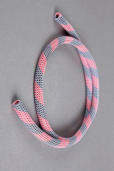 Nylon Frame Schlauch - weiß-rot-schwarz