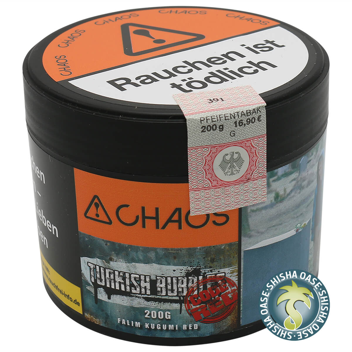 Chaos Tabak Turkish Bubbles Code Red 200g